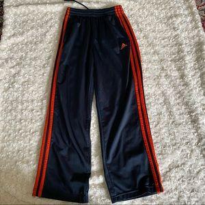 Kids Adidas Navy Blue Orange Jogger Sweatpants